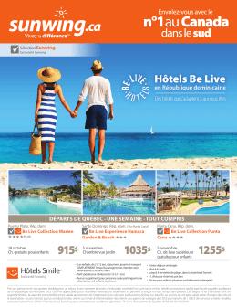 Les hôtels Be Live en République dominicaine cet hiver à partir de