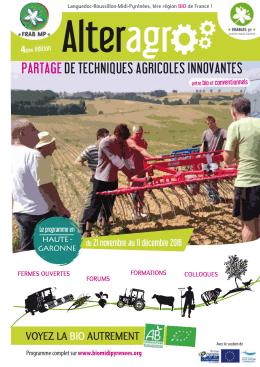 Le programme AlterAgro2016 en Haute-Garonne 31 - FRAB