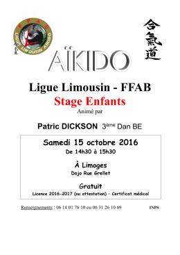 Affiche - Club aikido Isle