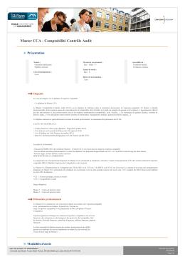 Master CCA - Comptabilité Contrôle Audit