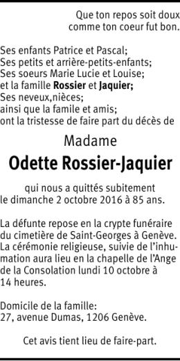 Odette Rossier-Jaquier