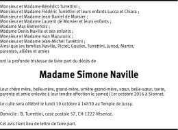 Madame Simone Naville