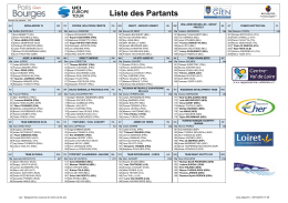 Liste des Partants