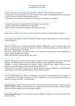 Des monstres et des héros - Académie de Nancy-Metz