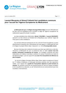 Laurent Wauquiez et Gérard Collomb font candidature commune