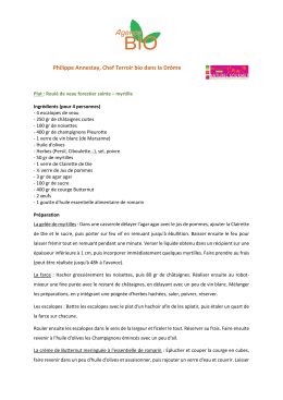 recettes - Agence BIO