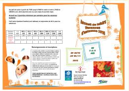 Programme Vacances Automne