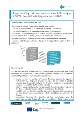 Projet TeraDiag - Vers un système de contrôle en