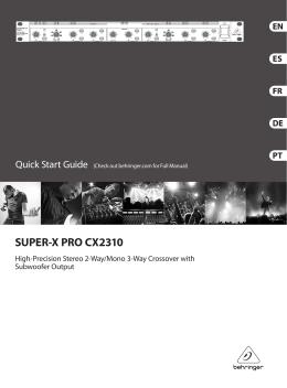 SUPER-X PRO CX2310 Controls