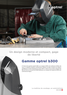 Prospectus gamme optrel b300