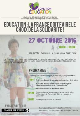Education : la france doit faire le choix de la solidarite