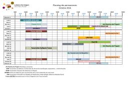 Permanence OCTOBRE 2016 - CHU Amiens