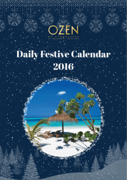 2016 Daily Festive Calendar - OZEN by Atmosphere at Maadhoo