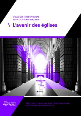 L`avenir des églises - École nationale supérieure d`architecture de