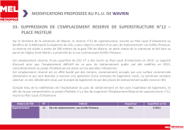 modifications proposees au plu de wavrin 33. suppression de l