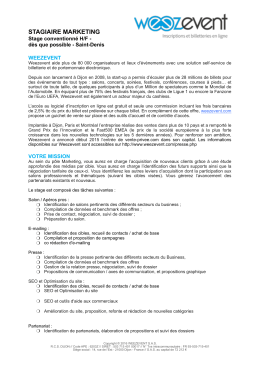 stagiaire marketing - Amazon Web Services