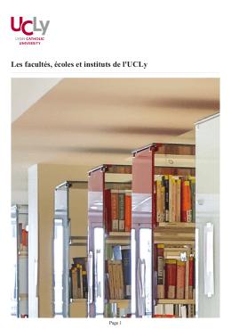 Les facultés, écoles et instituts de l`UCLy   Université Catholique de