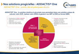 Nos solutions progicielles : ADDACTIS® One