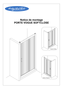 VOGUE (coulissante) douche NOTICE