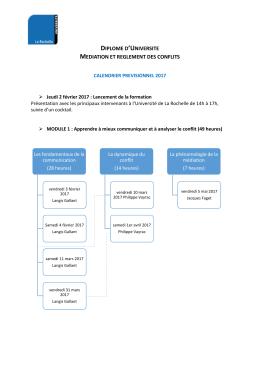 Calendrier - PDF - Université de La Rochelle