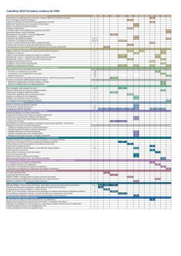 Calendrier 2016 Formation continue de l`ENA