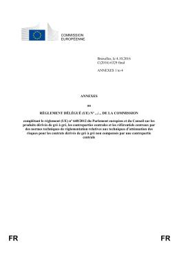 Texte de l`annexe au règlement délégué