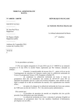 condamner la collectivité territoriale de Corse