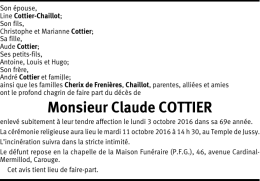 Monsieur Claude COTTIER