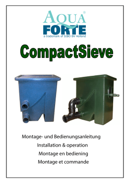 AquaForte CompactSieve Manual