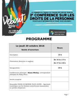 programme - debout2016.ca