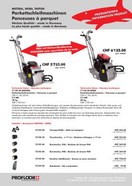 Produkteflyer Schleifmaschinen 1
