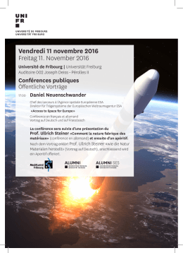 Vendredi 11 novembre 2016 Freitag 11. November 2016