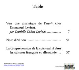 La compréhension de la spiritualité dans les cultures française et