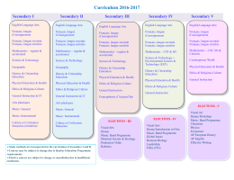 Curriculum 2016-2017 - Sacred Heart School