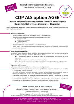 CQP ALS option AGEE