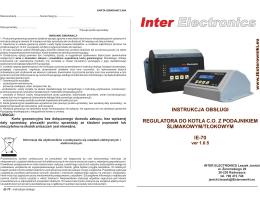 instrukcja obsługi - Inter Electronics