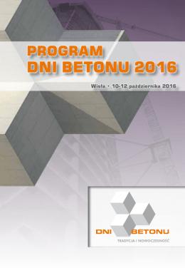 program konferencji dni betonu 2016