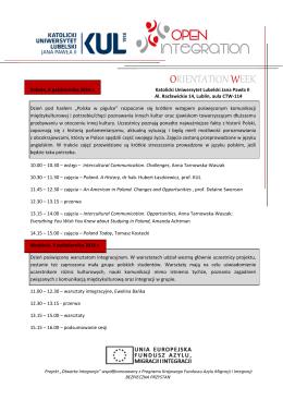 agenda_pl - Katolicki Uniwersytet Lubelski Jana Pawła II