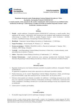 Regulamin rekrutacji - Regionalne Centrum Edukacji Zawodowej w