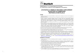 Instrukcja instalacji STATISTICA