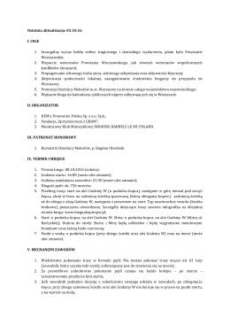 Regulamin - Bieg na Kopiec Powstania Warszawskiego