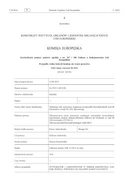 Zatwierdzenie pomocy państwa zgodnie z art. 107 i 108
