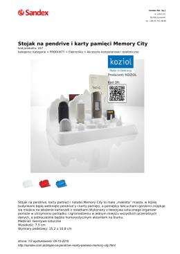 Stojak na pendrive i karty pamięci Memory City