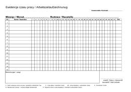 Ewidencja czasu pracy / Arbeitszeitaufzeichnunug