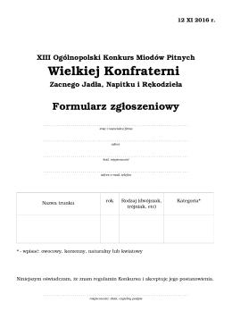 Wielkiej Konfraterni - Portal Pszczelarski