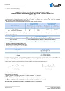 Załącznik do Ogólnych warunków terminowego - Aegon-pl