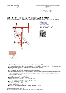Geko Podnośnik do płyt gipsowych G02110
