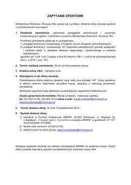 Załączniki do zarządzenia nr 3 - BIP Ministerstwo Rolnictwa i
