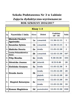 SP - Zespół Szkół Nr 3 w Lubinie