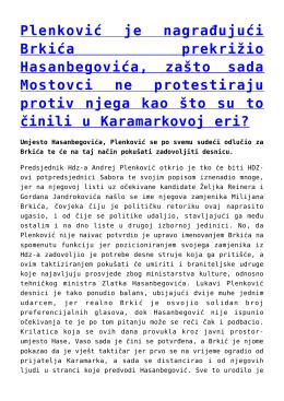 Plenković je nagrađujući Brkića prekrižio Hasanbegovića